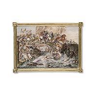 Plague met voorstelling van de strijd tussen de Amazonen en de Grieken naar Rubens